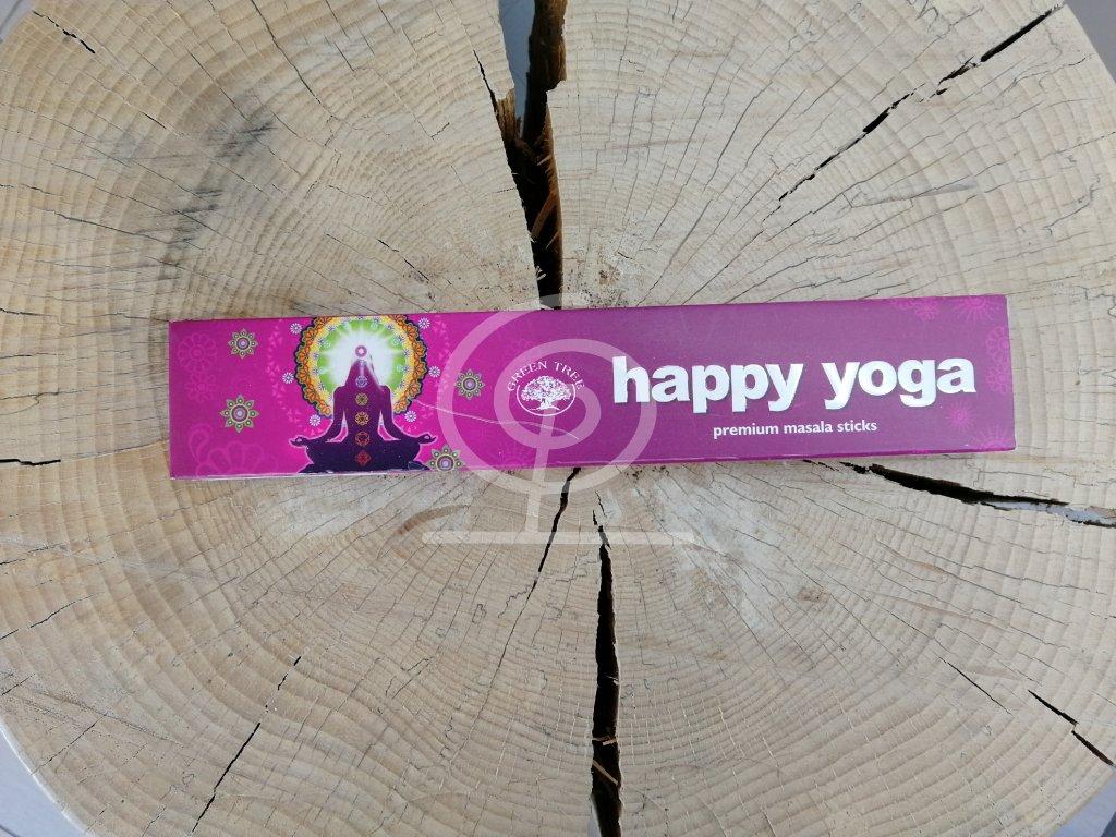 Vonné tyčinky Green Tree Happy Yoga