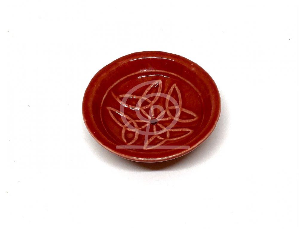 Stojánek na vonné tyčinky keramický - miska druhy