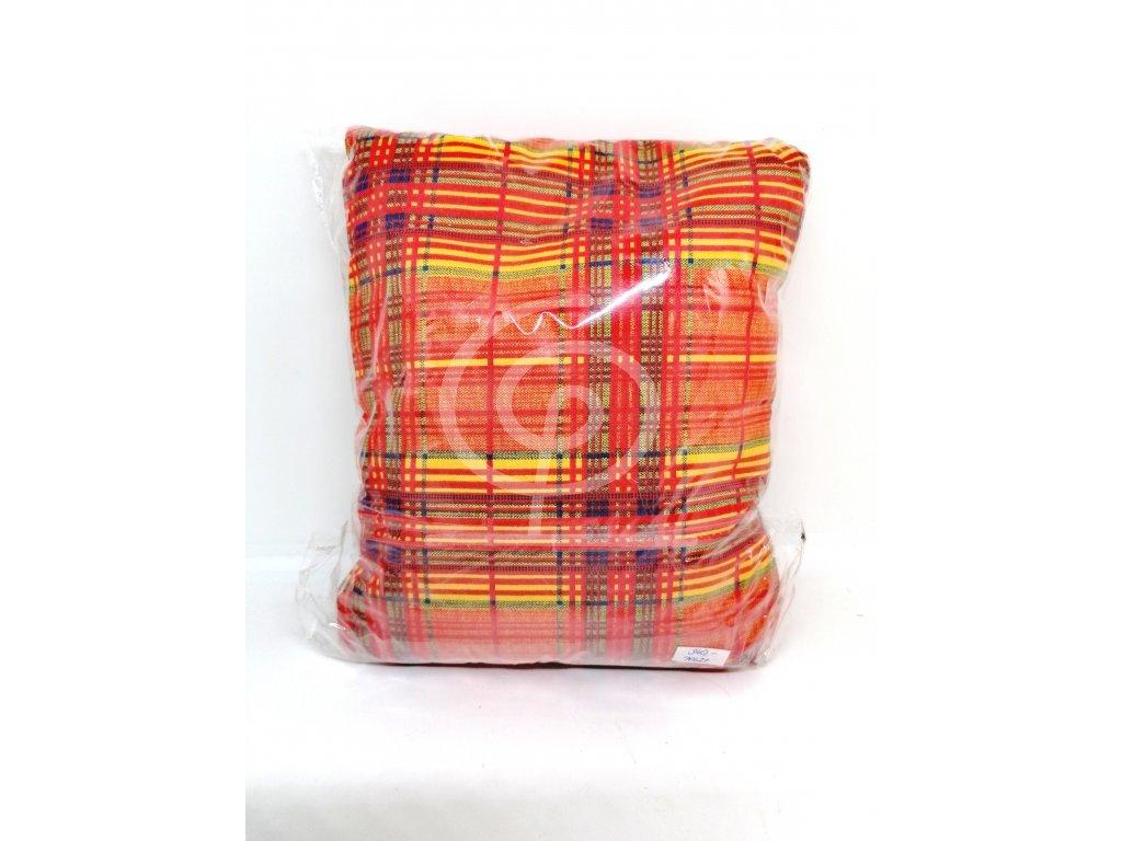 Nahřívací polštářek Super - červený s barevnými pruhy