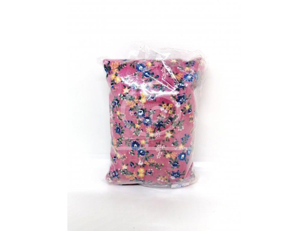 Nahřívací polštářek Super mini - růžový s květinami