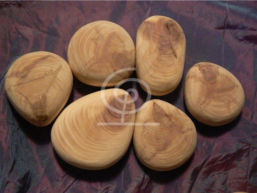 Dřevěný oblázek Jalovec