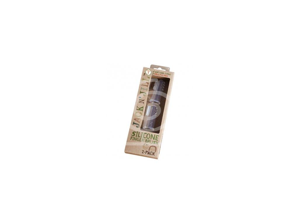 Jack N' Jill - Silikonový zubní kartáček na prst