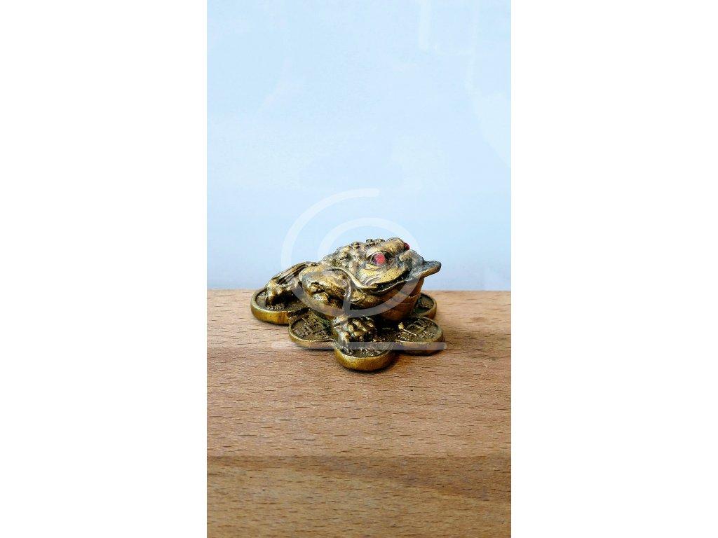 Soška Třínohá žába, kov 5,5 cm
