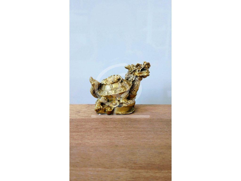 Soška Želva s dračí hlavou, kov 3,8 cm