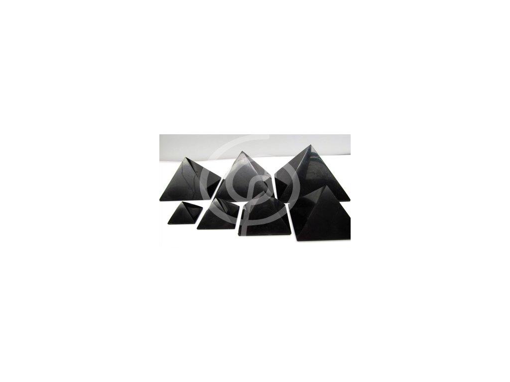 Šungitová pyramida 4x4