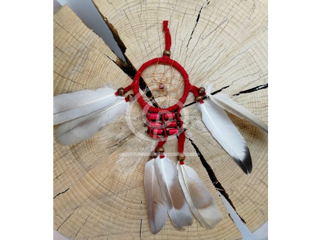Lapač snů Native American červená 6 cm