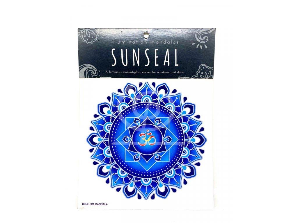 Sluneční mandala Blue Om Mandala
