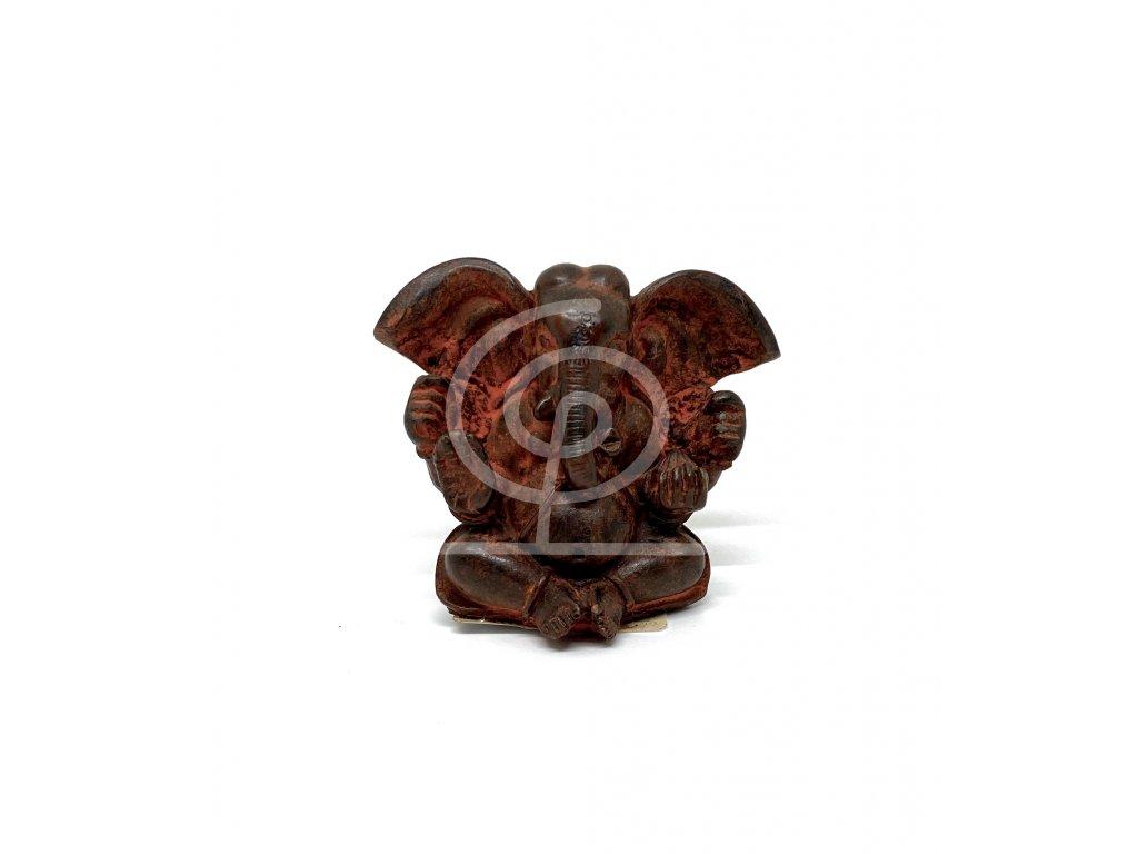 Soška resin Ganesha 6 cm (červený)