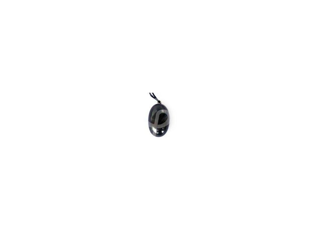 Přívěsek kamínek ze šungitu kulatý