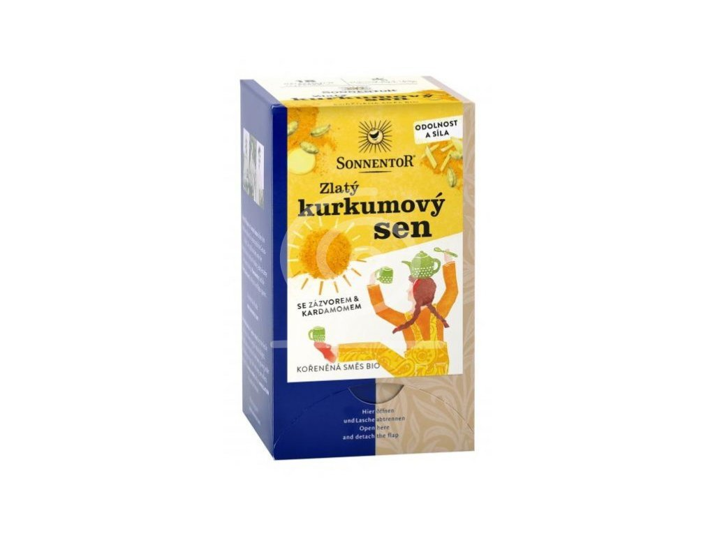 Sonnentor čaj Zlatý kurkumový sen