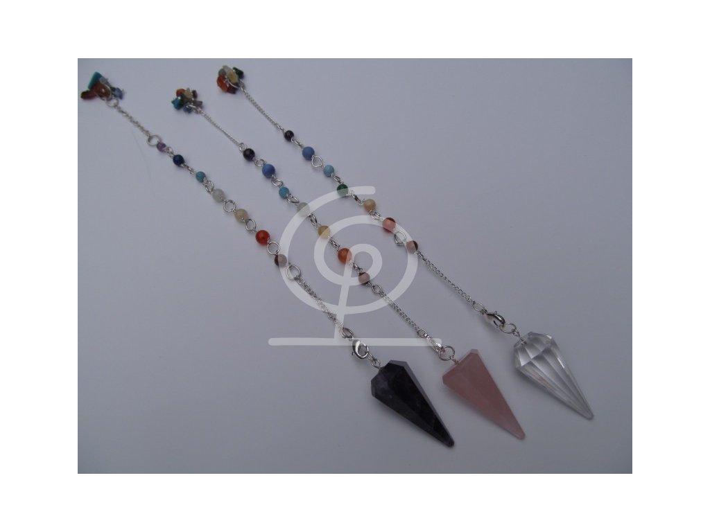 Kyvadlo - ametystové s čakrovým řetízkem