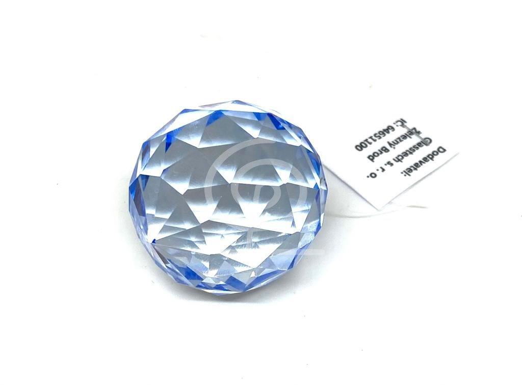 Křišťálová tm. modrá koule na zavěšení - 40 mm