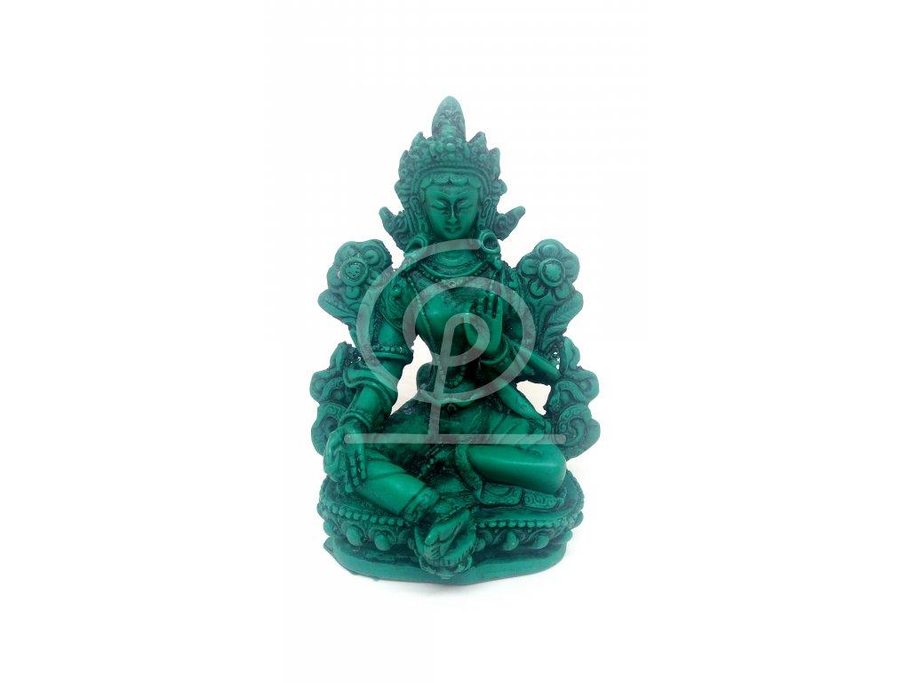 Soška Zelená Tara, resin 12 cm