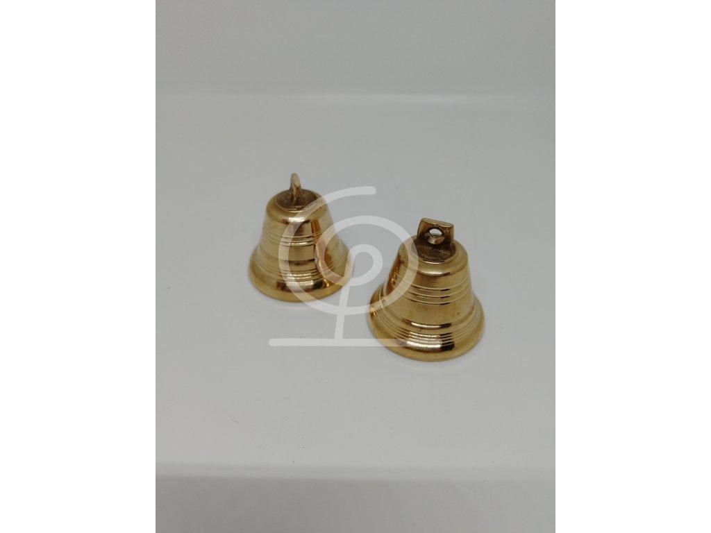 Zvonek mosazný - průměr 4 cm