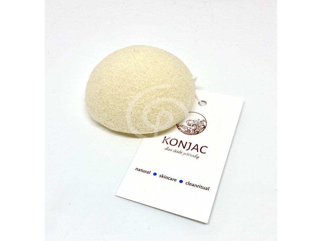 Konjac - Bílá houbička na obličej, bochánek