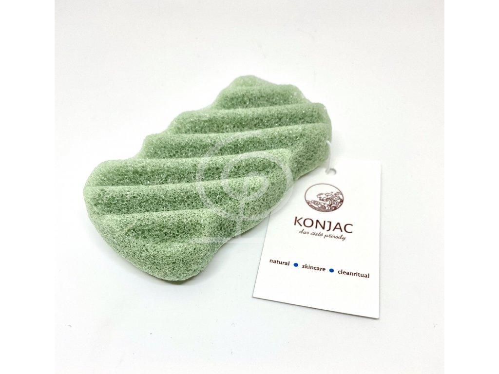 Konjac - Tmavě zelená houbička na tělo