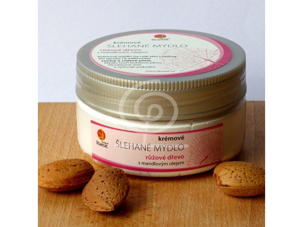Libebit Šlehané mýdlo - Madlový olej, Růžové dřevo