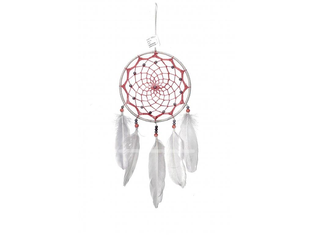 Lapač snů Růžovošedý, 15 cm