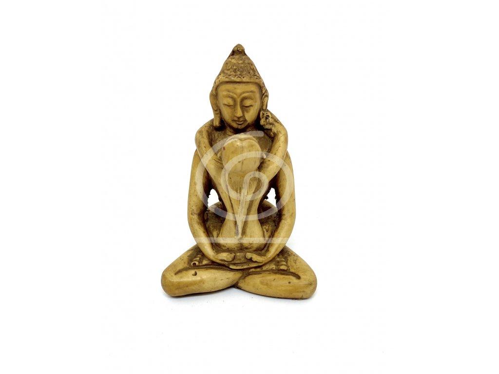 Soška Samantabhadra, pryskyřice 8cm