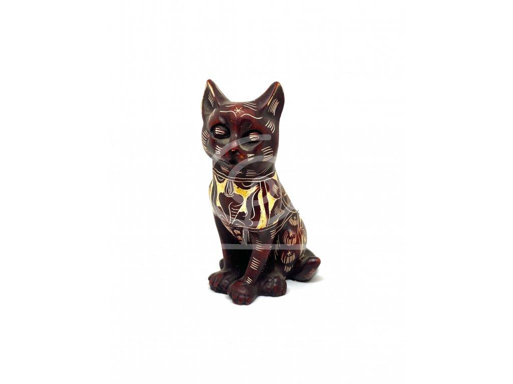 Soška Kočka zdobená