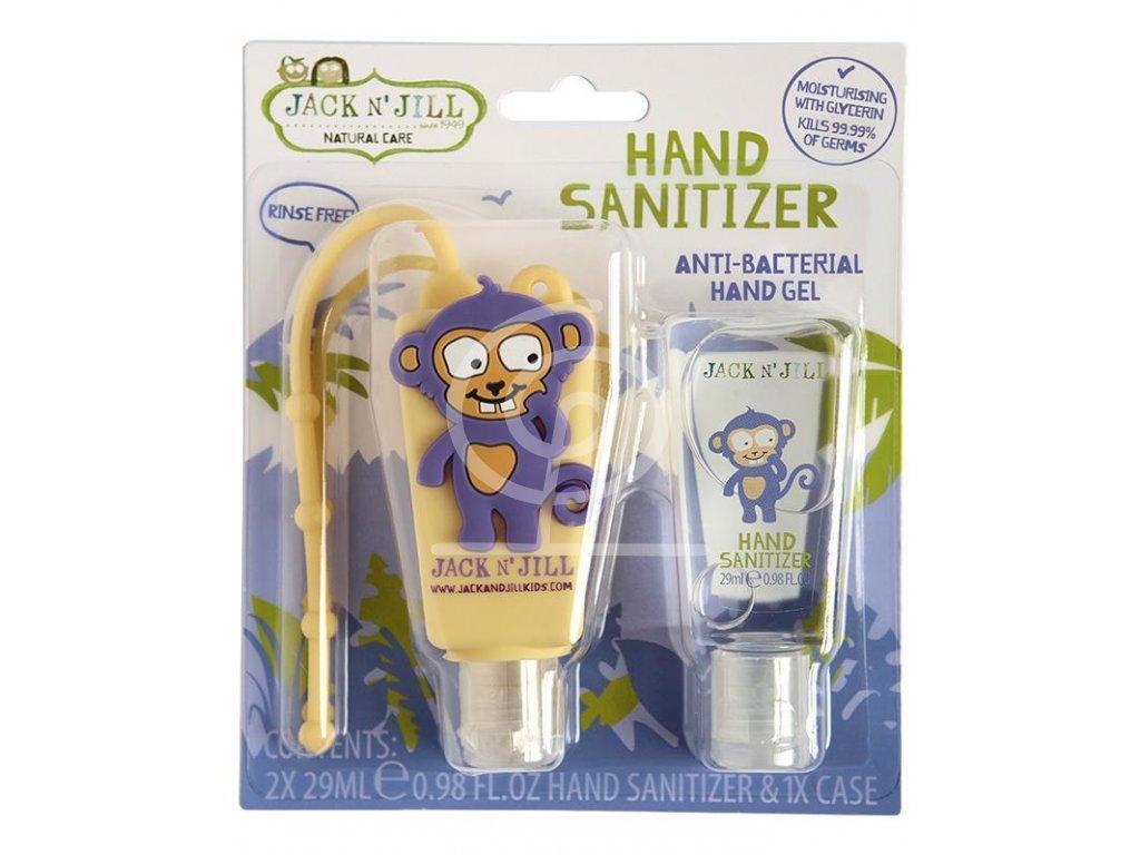 Jack N´Jill Antibakteriální gel na ruce Opice, 2x 29 ml+pouzdro