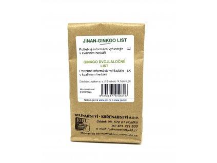 JUKL bylina Jinan - ginkgo list