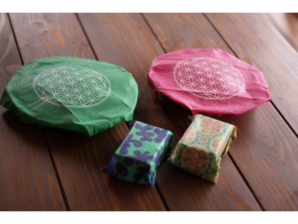Obal Eco easy wrap - Květ života (30x30 cm)