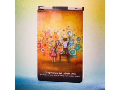 Zápisník s magnetem Tvořivost