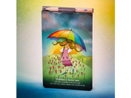 Zápisník s magnetem Udělám si hezký den