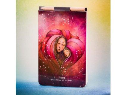 Zápisník s magnetem Láska
