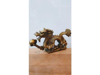 Soška Drak, kov 6,5 x 12cm