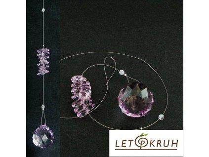 Křišťálový závěs - fialový