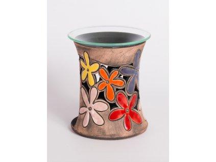 Aromalampa vyřezávaná kopretina barevná