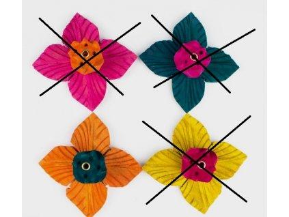 Stojánek na vonné tyčinky dřevěný - lotos barevný