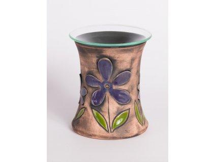 Aromalampa vyřezávaná kopretina plastická fialová