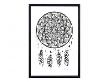 Obraz Mandala Lapač snů 15x20cm