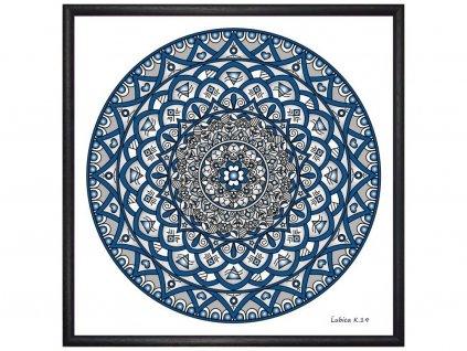 Obraz Mandala Andělská ochrana 30x30cm
