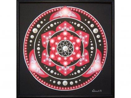 Obraz Mandala Splynutí dvou duší 30x30cm