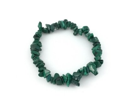 Náramek z tromlovaných kamenů - malachit