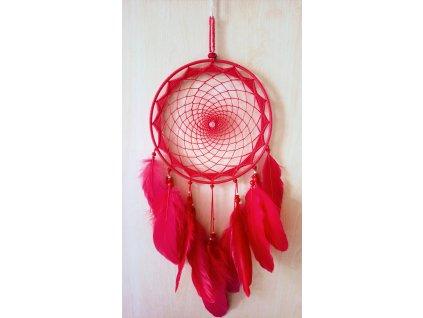 Lapač snů - červený, 20 cm
