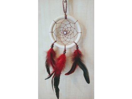 Lapač snů - béžovočervený, 11 cm