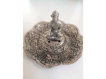 Stojánek na vonné tyčinky kov - talířek