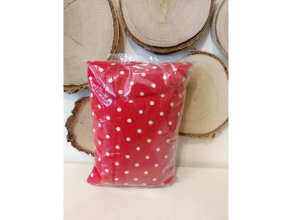 Nahřívací polštářek Super mini - červený s bílými puntíky
