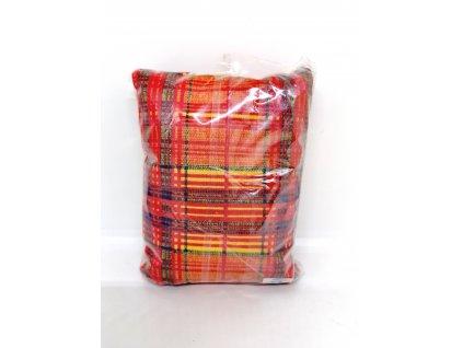 Nahřívací polštářek Super mini - červený s barevnými pruhy