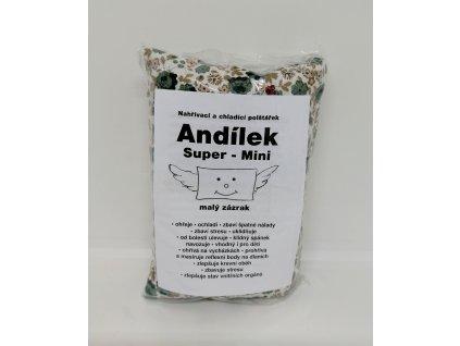 Nahřívací polštářek Super mini - bílý s květinami