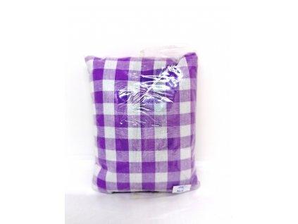 Nahřívací polštářek Super mini -fialový kostkovaný (velká kostka)