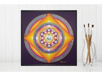 Obraz Mandala Vnitřní klid, ručně domalovaná 30x30cm