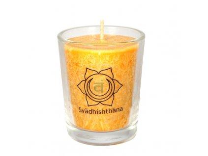 Svíce čakrová mini - Oranžová
