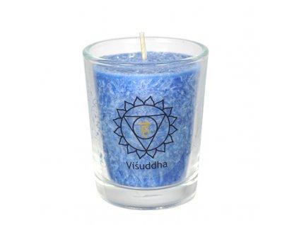 Svíce čakrová mini - Modrá