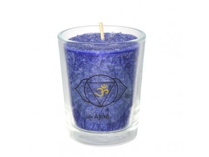 Svíce čakrová mini - Královská modř